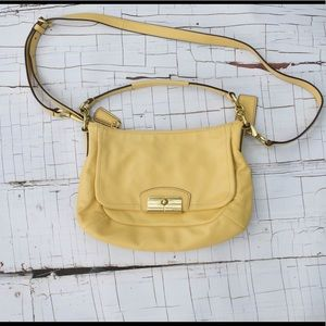 Coach leather crossbody yellow